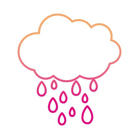 degraded line nature cloud raining weather in the sky vector illustration
