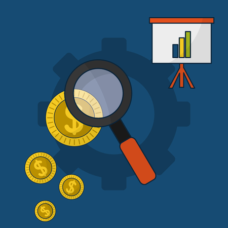 Online currency business vector illustration graphic design