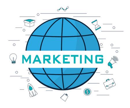 Social media and digital marketing symbols vector illustration graphic design