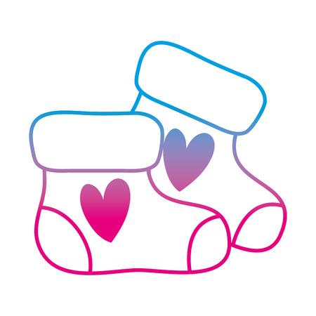 degraded line little baby sock clothes design Illustration