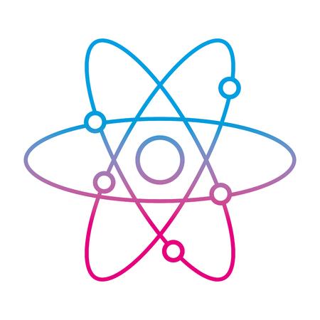 degraded line physics science orbit atom education vector illustration