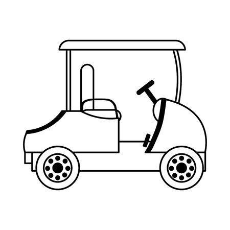 Line recreational golf car to play the sport