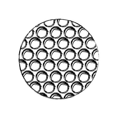Golf ball icon Illustration