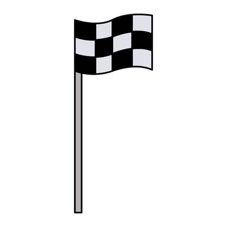 Color flag symbol to play golf sport Vettoriali