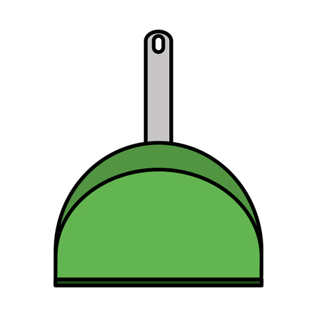 Color dustpan object to clean and homework activity