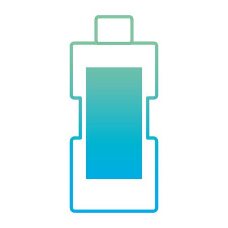 Degraded line blanch detergent bottle to housework laundry vector illustration Vettoriali