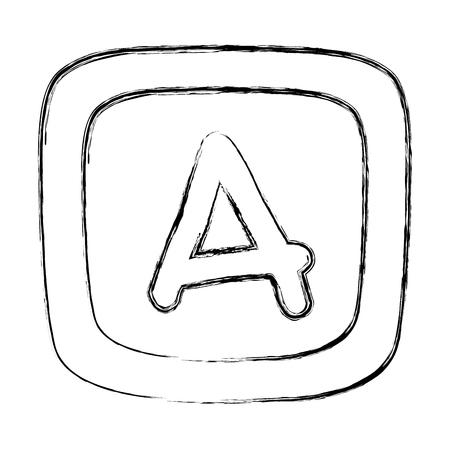 grunge baby cube alphabet education game