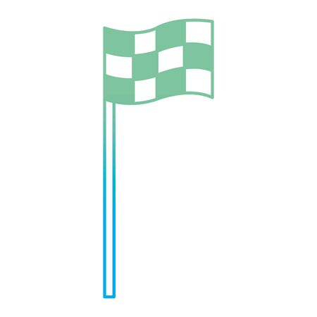 Degraded line flag symbol to play golf sport