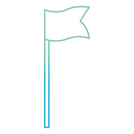 Degraded line golf sport flag sign to hole