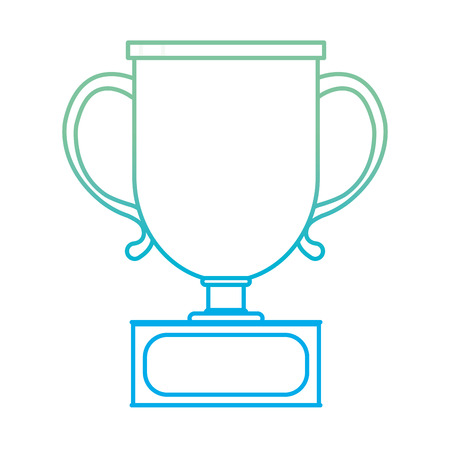 Degraded line cup prize to winner sport competition