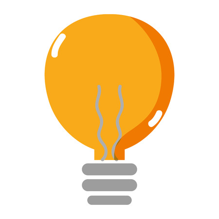 light electric bulb energy object vector illustration