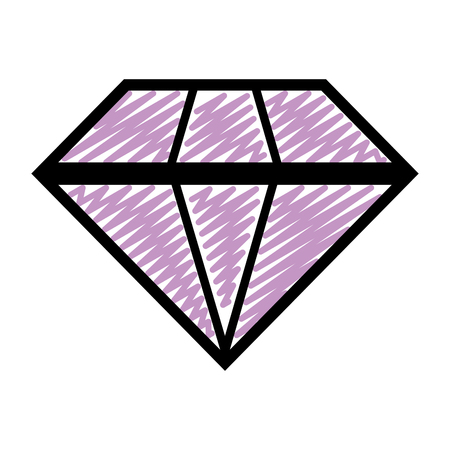 doodle brillant diamond luxury gen stone Illustration