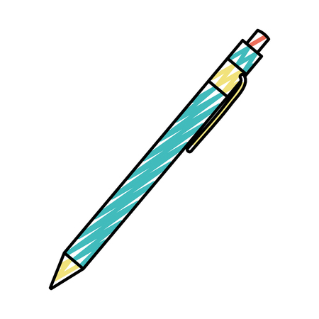 doodle pen tool ink to study writing vector illustration
