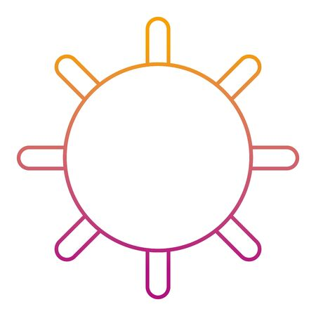 degraded line shine sun ray and summer weather vector illustration