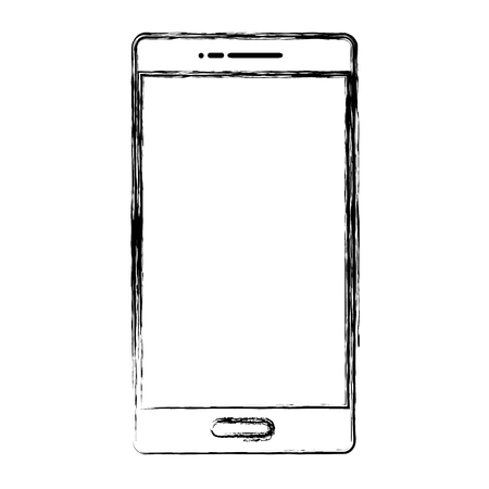 grunge digital smartphone technology to call and talk Illustration