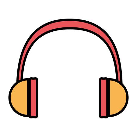 color modern headphones technology to listen music vector illustration