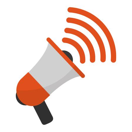 megaphone speaker public voice message vector illustration