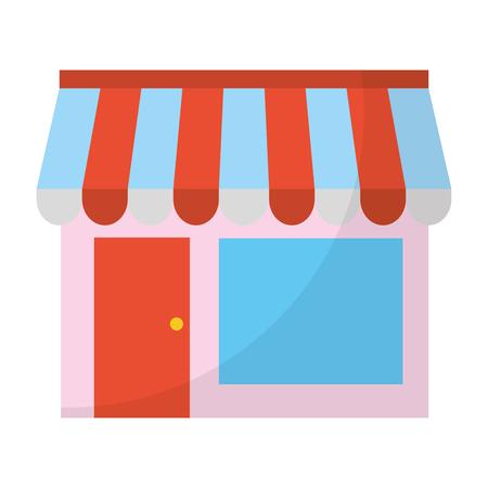 boutique d & # 39 ; affaires magasin de marché commercial illustration vectorielle