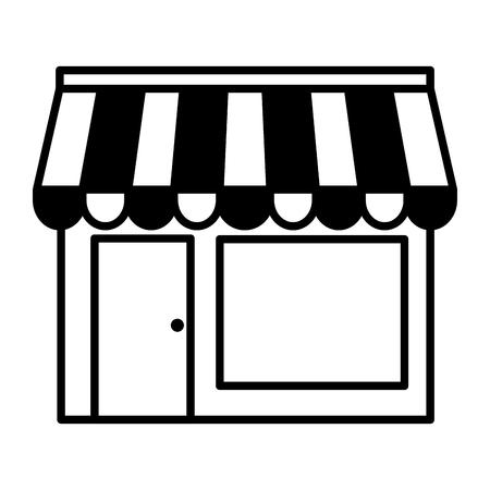 ligne boutique boutique de commerce commerce vecteur illustration