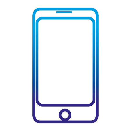 degraded line smartphone technology to communication call and talk vector illustration