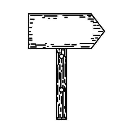 line wood warning caution sign notices vector illustration Stock Illustratie