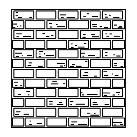 line structure brick wall texture block vector illustration