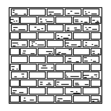 line structure brick wall texture block vector illustration