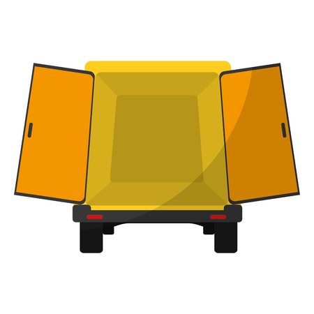 trunk delivery transport with doors open Illustration