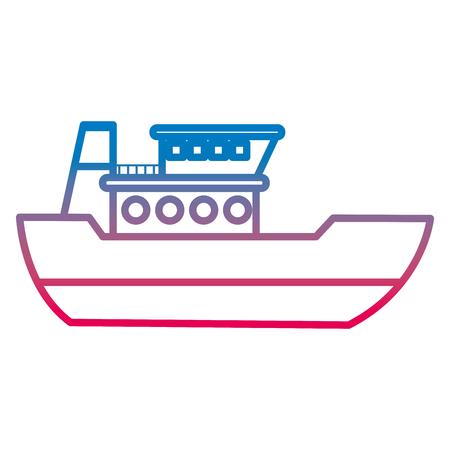 degraded line ship delivery sea transport service vector illustration Illustration
