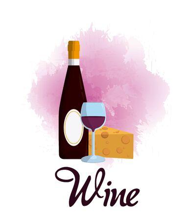 Wine luxury bottle