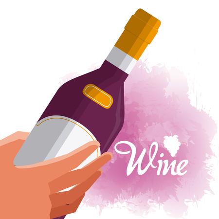 Hand ith wine bottle