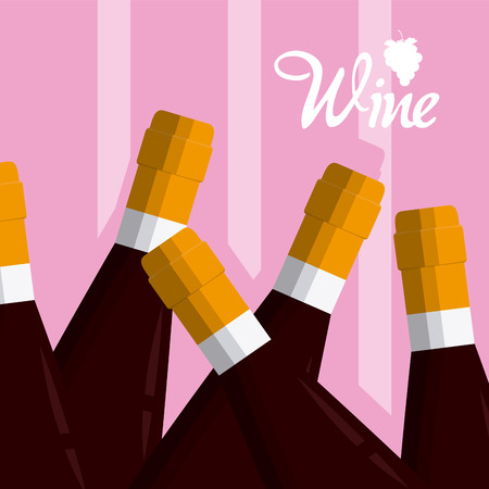 Wine bottles cartoons