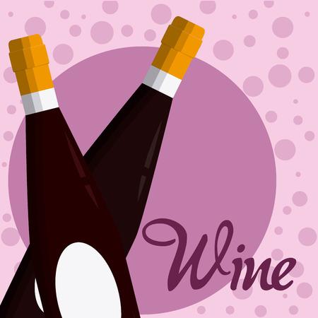 Wine bottles crossed
