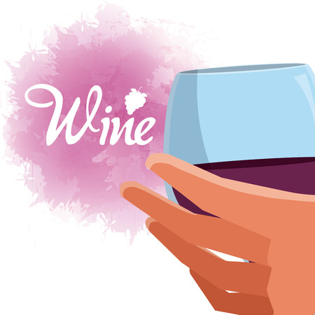 Wine drink concept vector illustration graphic design Illustration