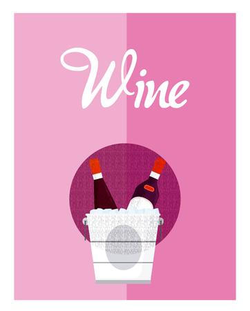 Wine menu cover Illustration