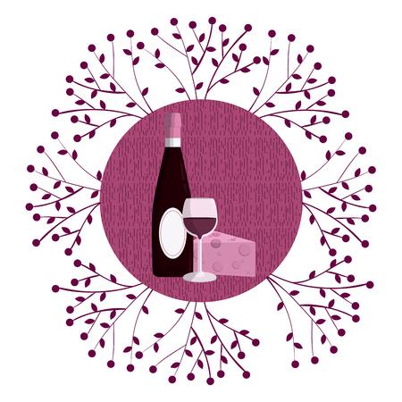 Wine round symbol Illustration