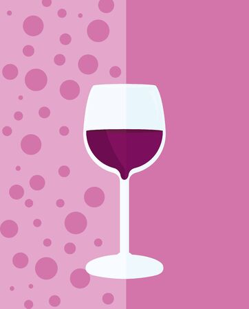 Wine menu cover with cup vector illustration graphic design