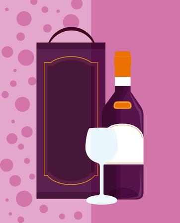 Wine menu cover Illusztráció