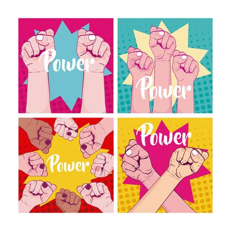 Set of girl power cards