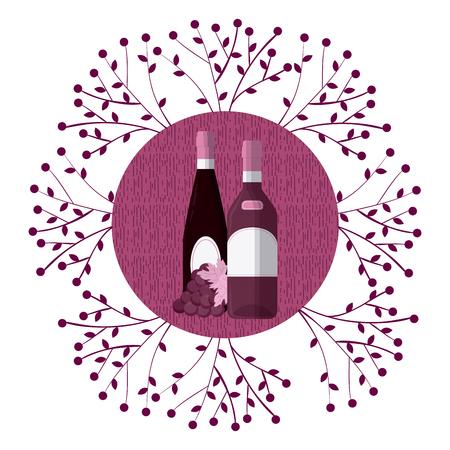 Wine round symbol Illusztráció
