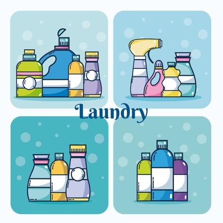Set of detergent bottles