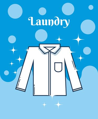 Male shirt laundry concept