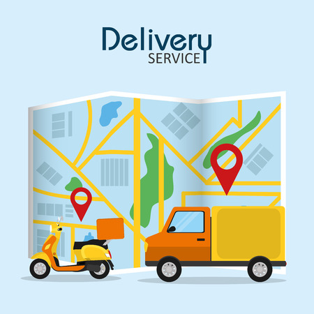 Delivery and logistics service concept vector illustration graphic