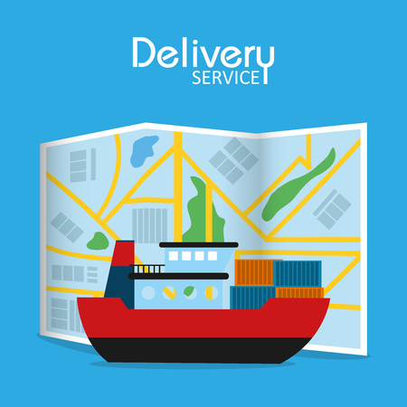Freighter delivery service icon.