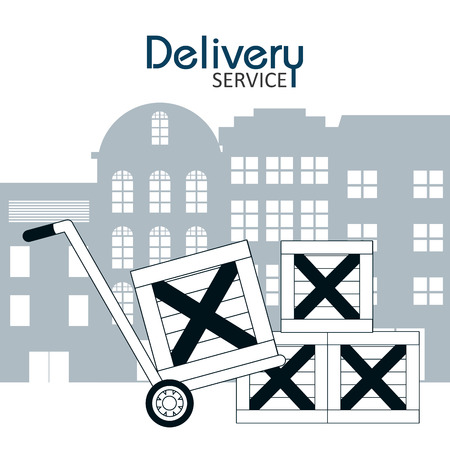 Delivery and logistics service concept design Stock Illustratie