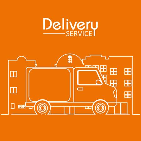 Delivery service concept icon.