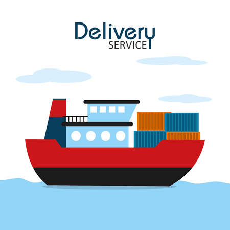 Freighter delivery service icon. Stock Vector - 99699315