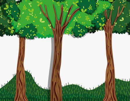 Beautiful forest nature scenery vector illustration graphic design Illustration