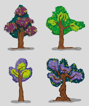 Set of forest trees