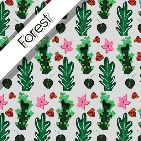 Forest pattern background Illustration